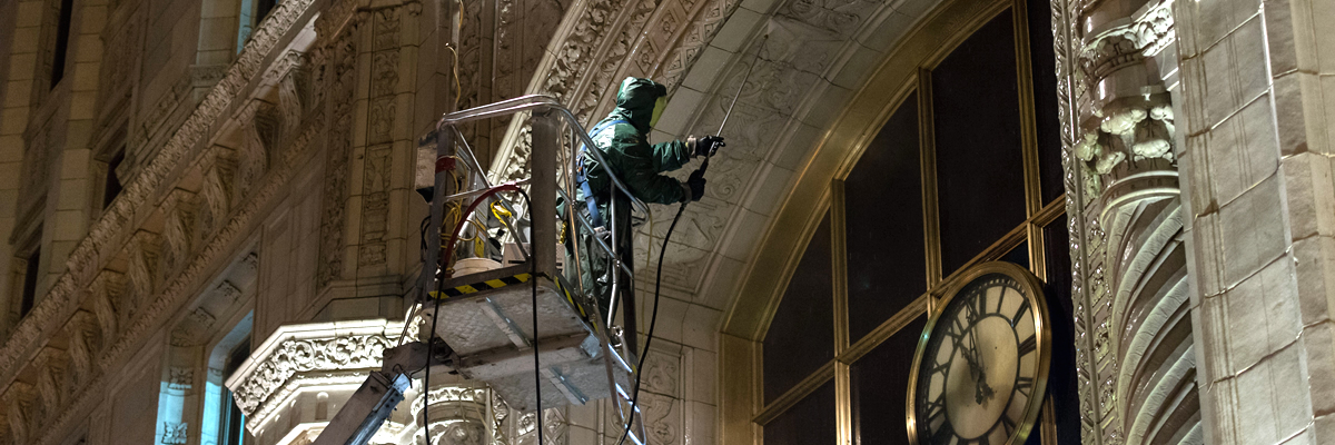 masonry cleaning  Wrigley Building Chicago