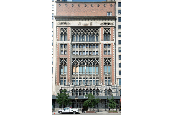 masonry restoration cleaning Wrigley Building Chicago